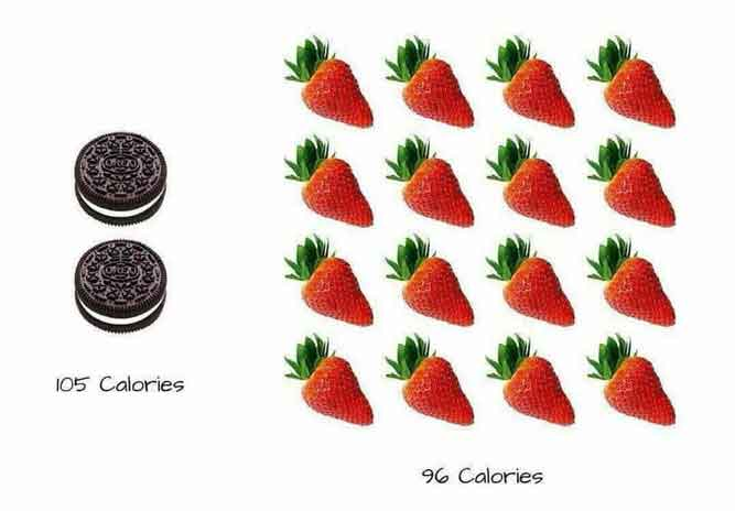 strawberries calories