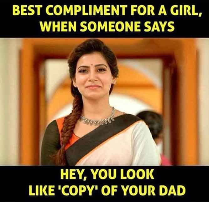 Best Compliments for a Girl When Someone Says - Hey, You Look Like copy of Your DAD