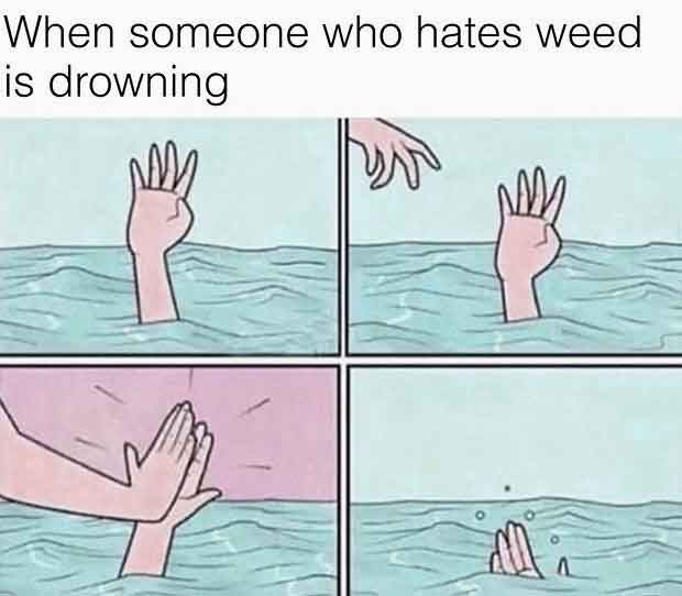 When Someone Who Hates Weed is Drowning