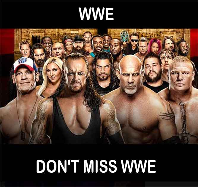 Don't miss WWE