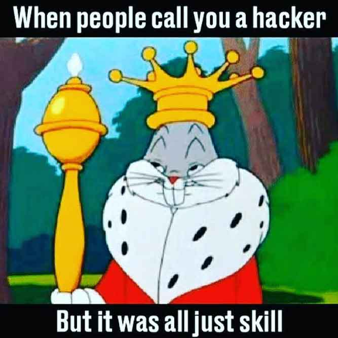 When People Call You A Hacker - But It was all Just Skill