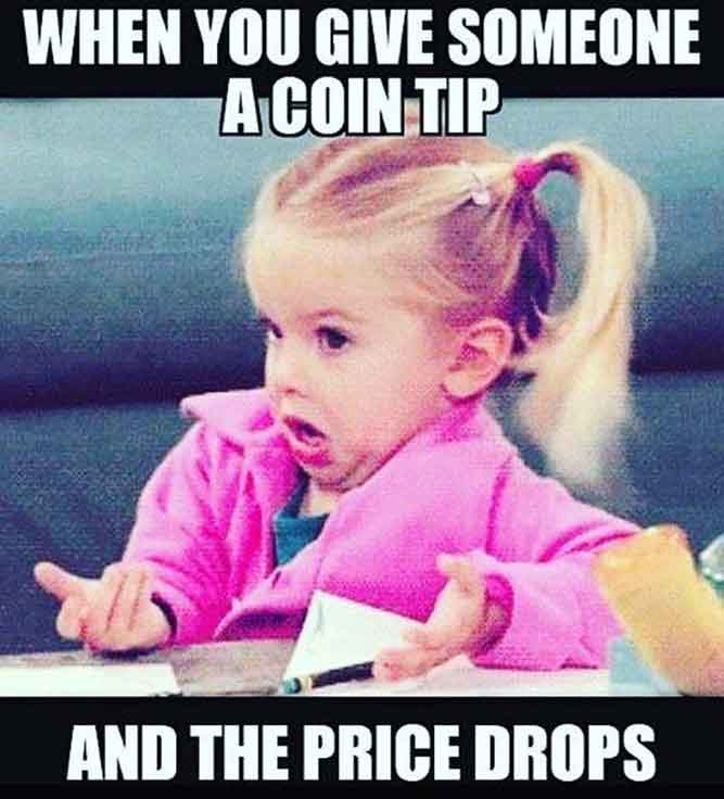 When You Give Someone A Coin Tip and The Price Drops